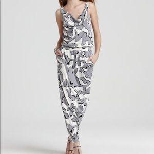 DVF Lou Lou Long silk maxi cowl neck dress size 2
